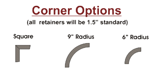 Two radius corner options