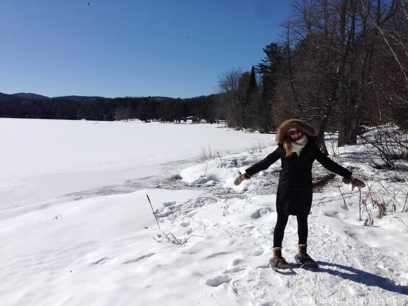 Snow shoe at Lac Philippe