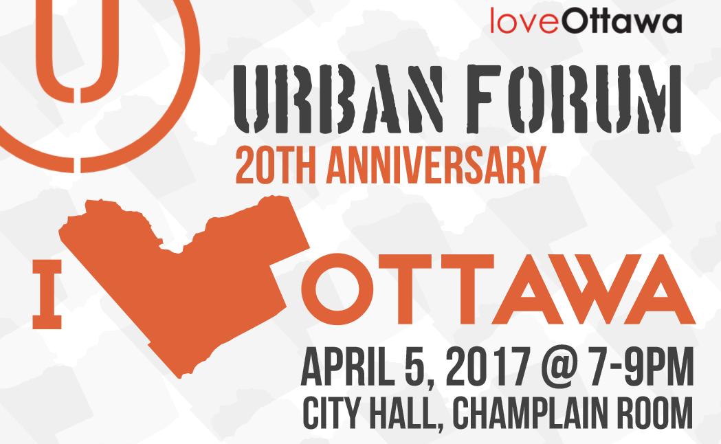 top of urban forum poster