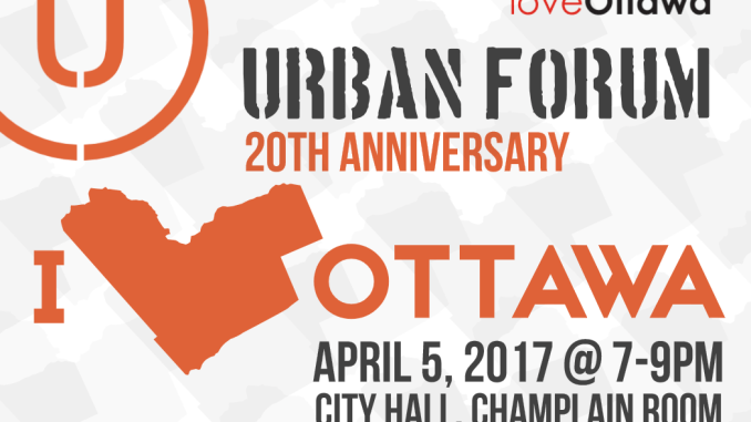 Part of the Urban Forum poster for April 5, 2017