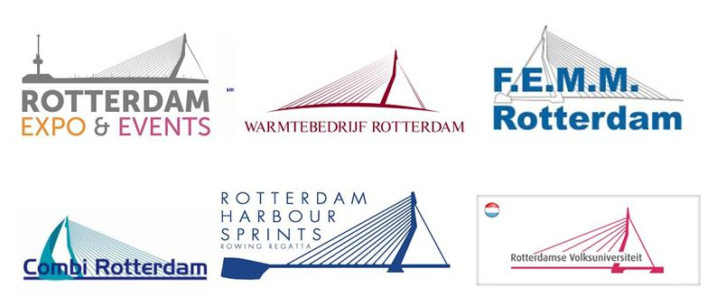 Many organisations use the Rotterdam bridges in their logos because they don't have a 'Big Nickel' or 'Big Goose'.