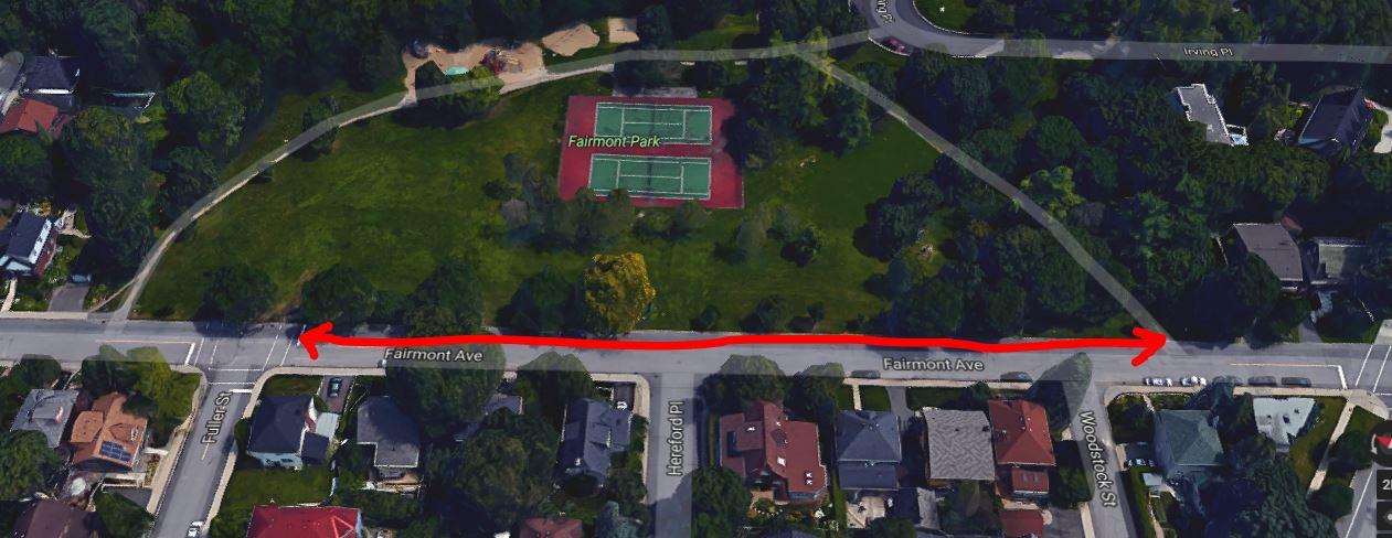 Aerial view of Fairmont Park