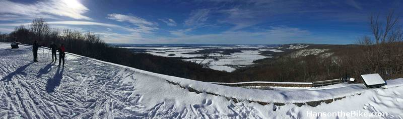 View from Champlain Lookout in Gatineau Park over the Ottawa Valley.