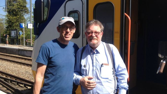 The Dutch railways conductor was waiting with my backpack in the back of the train