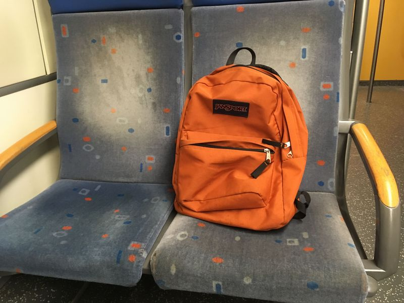 I was gone and my backpack was still sitting in the train on its way to Haarlem