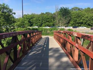 One of the several walk and bike bridges in the ravines
