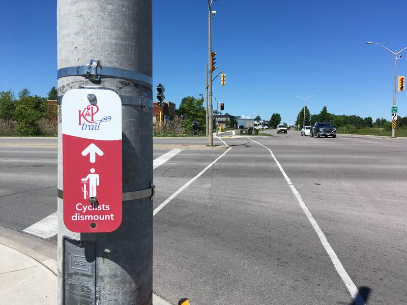 There is no real reason to walk your bike but Kingston advises you to do so at Sir John A Boulevard