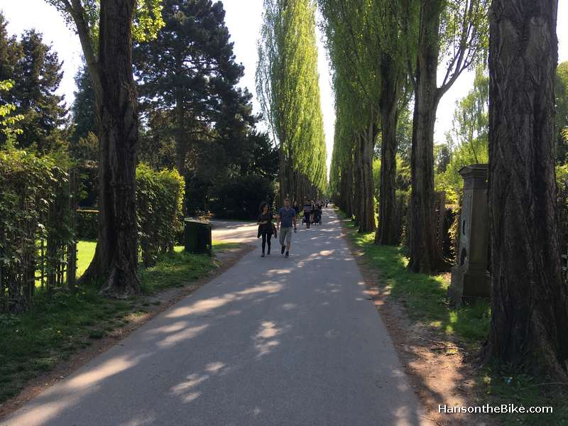 It is not uncommon to cycle across a cemetery