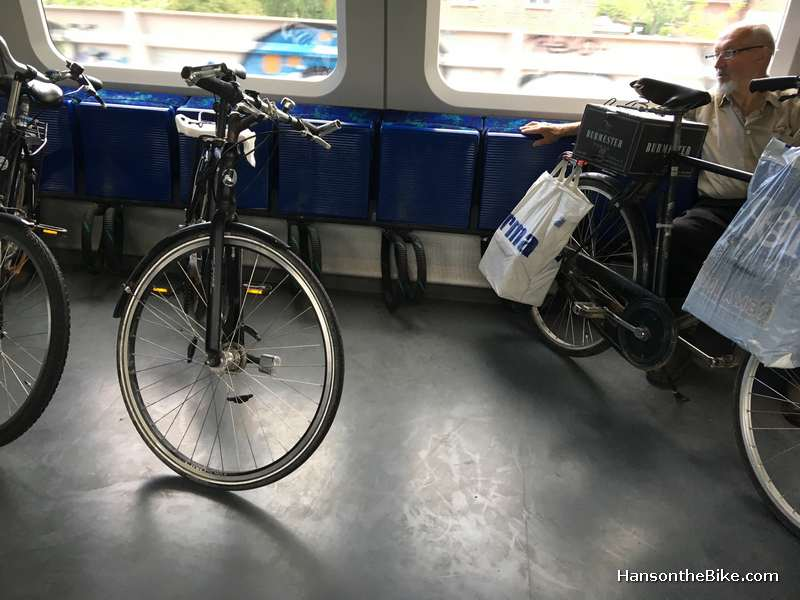 The train system is not the easiest to figure out initially, but it is so frequent that it doesn't matter if you miss one. Lots of space for bicycles. If there are no bikes, then you can flip out a seat.