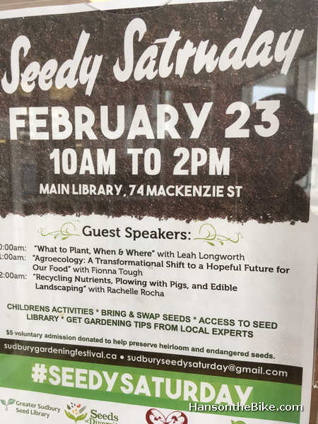 Seedy Saturday in Sudbury