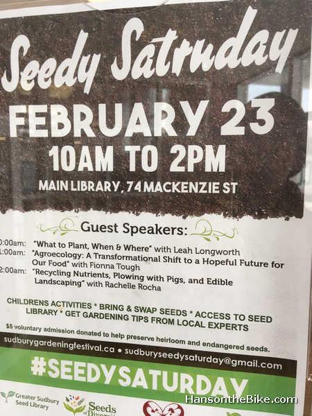 Seedy Saturday in Sudbury