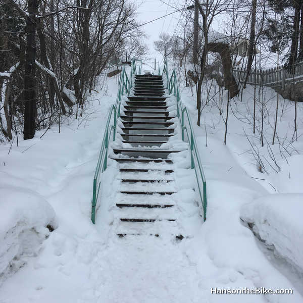 It appears that Sudbury -unlike Ottawa, doesn't close its stairs in winter.
