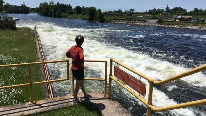 Karen at the Otonabee River