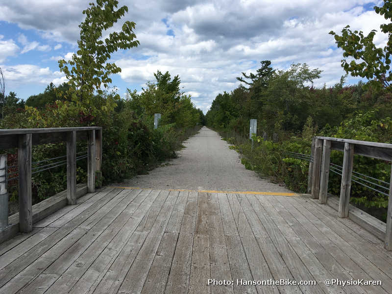Rail to Trail south of Orillia on bridge
