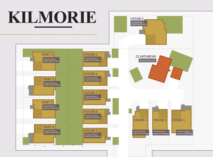 site plan of 21 Withrow Kilmorie House