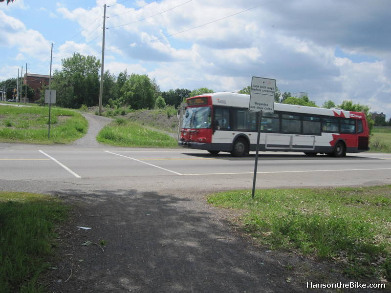 One could actually cross the Transitway on LeBreton, but I always found it a bit nervous doing this