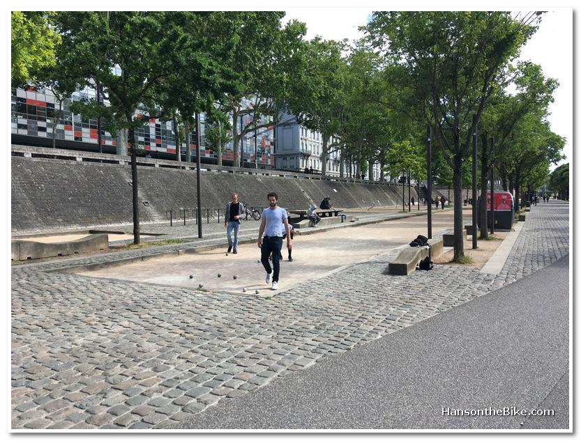 public space along the Rhone river