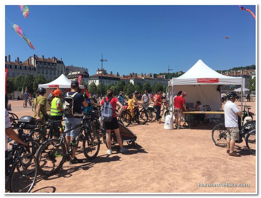 Bike advocacy day in Lyon