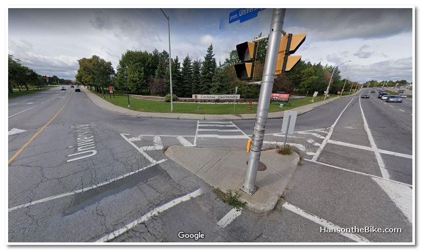 Google capture of the north west corner at Carleton