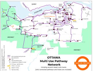 map of Ottawa inside the Greenbelt