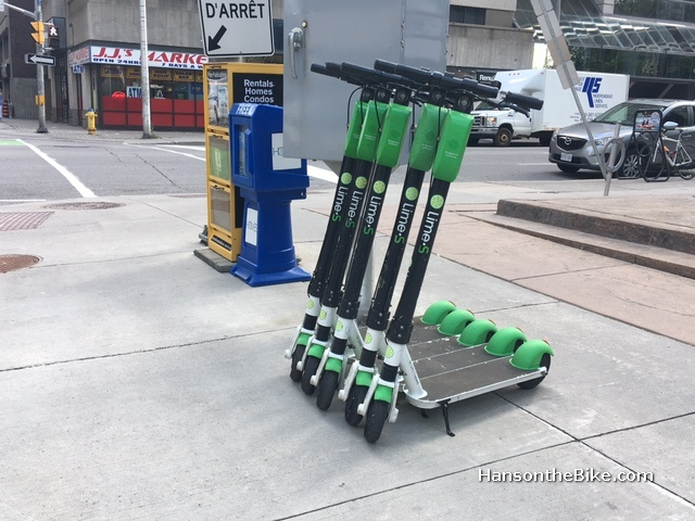 Lime scooters in Ottawa