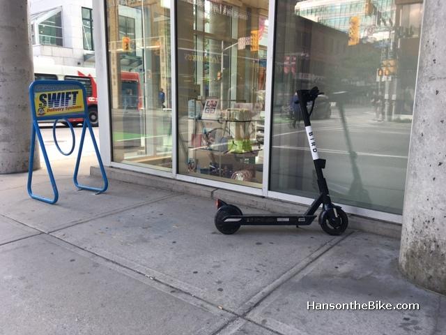 Bird scooter in Ottawa