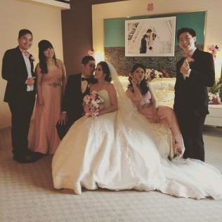 Groom, Bride, Bestmen, & Bridesmaids