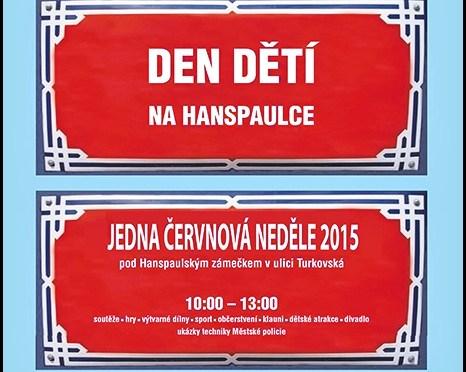 Hanspaulský dětský den 2015 – NEDĚLE 21. ČERVNA 2015