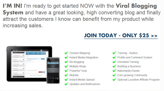 viral blogging system join