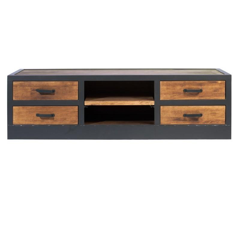 meuble tv loft style industriel phill