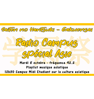 Mardi 8 octobre – Radio Campus spécial Asie