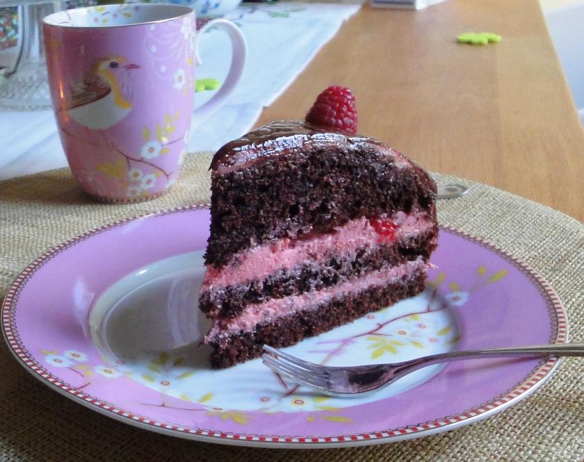 Geburtstagstorte - Himbeer-Schoko-Torte