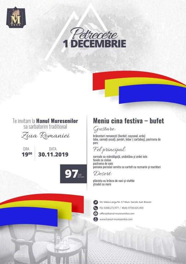 petrecere traditionala de 1 Decembrie la Hanul Muresenilor, Brasov, Sacele
