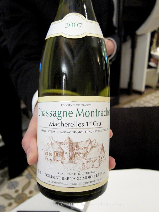 """2007 Bernard Morey et Fils Chassagne Montrachet """"Marcherelles 1er Cru"""""""