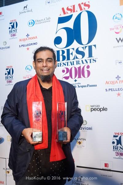 2016亞洲50最佳餐廳第一名得主Gaggan餐廳的主廚Anand Gaggan