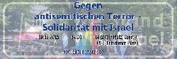 Gemeinsam gegen antisemitischen Terror - Solidarität mit Israel!