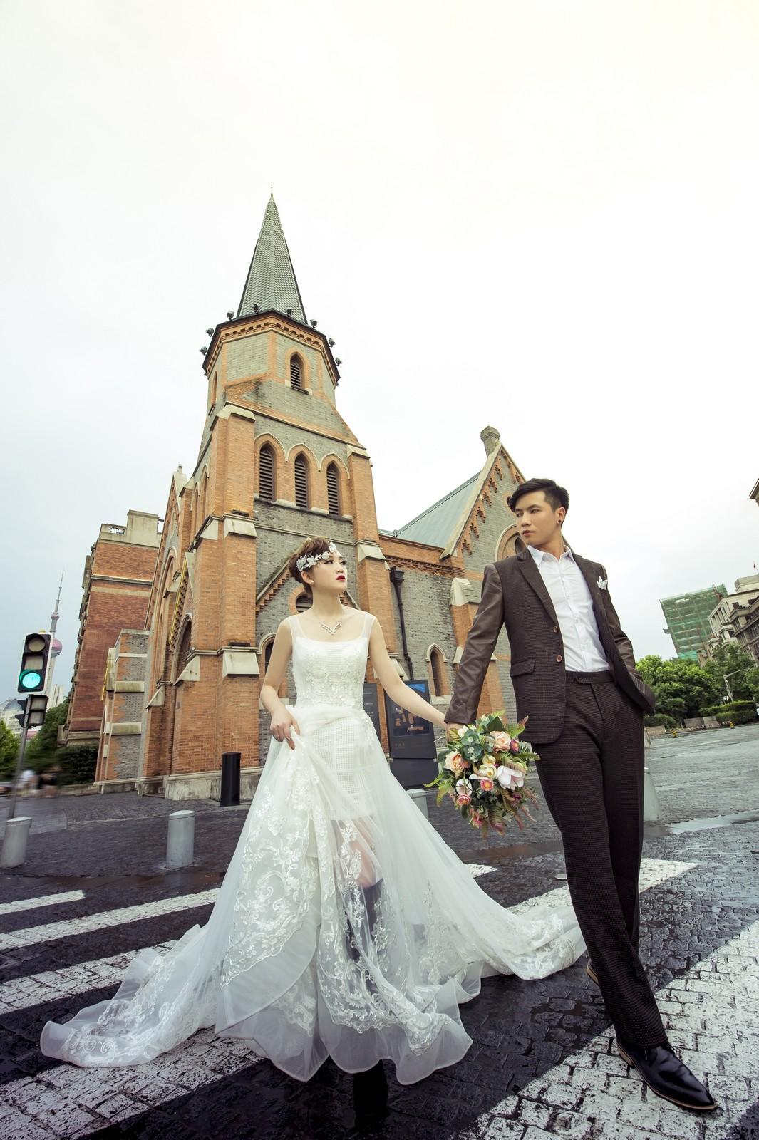 上海 海外の結婚式の前攝 寫真集