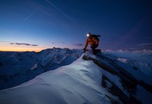 Bernd Ritschel auf der Aifnerspitze mit dem Tamrac Evolution 9