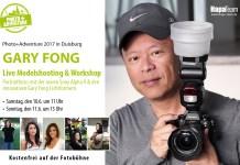 Hochzeitsfotograf Gary Fong Live-Modelshooting & Workshop auf der Photo+Adventure 2017 Portraitfotos mit der neuen Sony Alpha 9 und den innovativen Gary Fong Lichtformern.