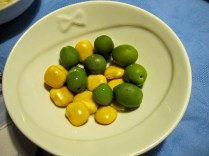 lupini & green olives