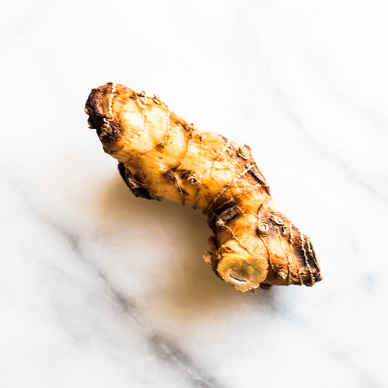 This is not the prettiest example of galangal, but it's all they had. Updated picture coming soon!