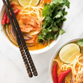 Spicy Thai Curry Noodle Soup