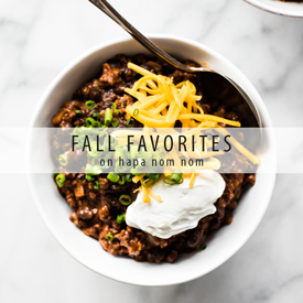 Great Fall Recipes on Hapa Nom Nom