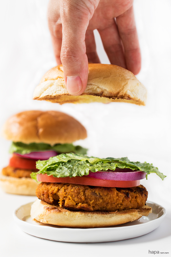 Even if you're not a vegetarian you're going to love these Ethiopian Red Lentil Burgers! They're packed with a ton of bold spices, moist, satisfying, and healthy! What's not to love?