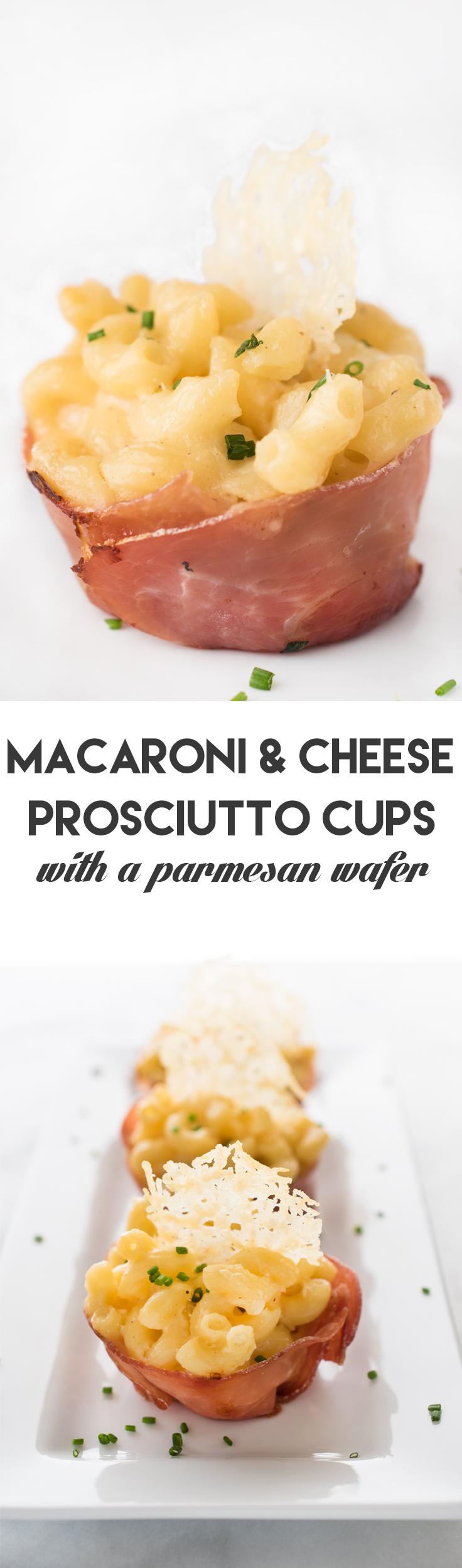 Macaroni & Cheese Prosciutto Cups