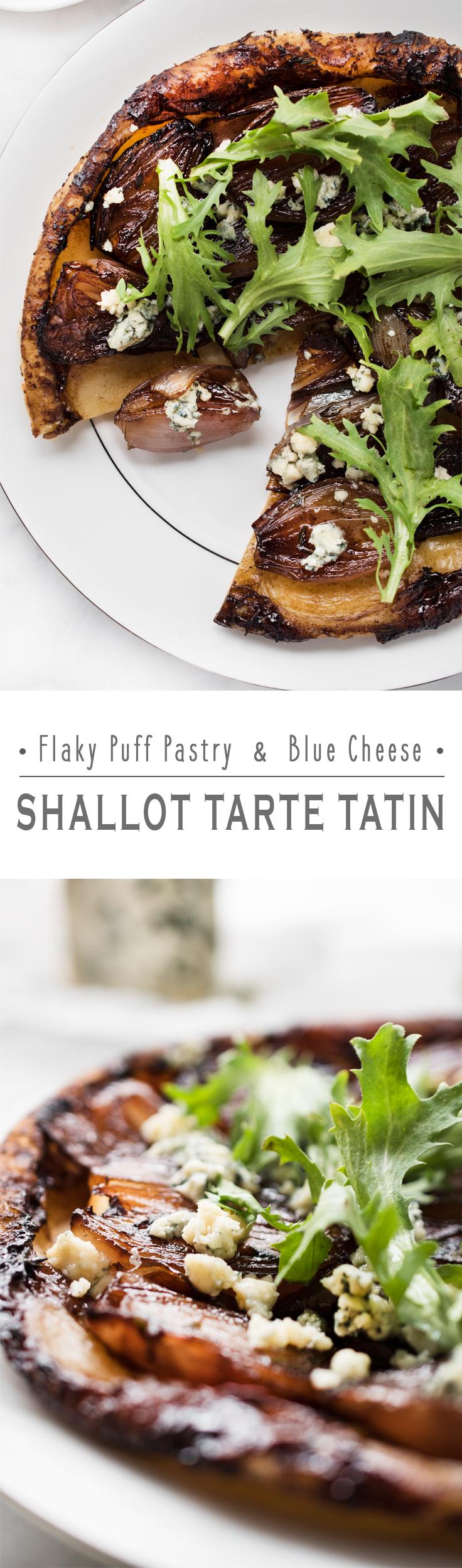 Flaky Puff Pastry and Blue Cheese - Shallot Tarte Tatin