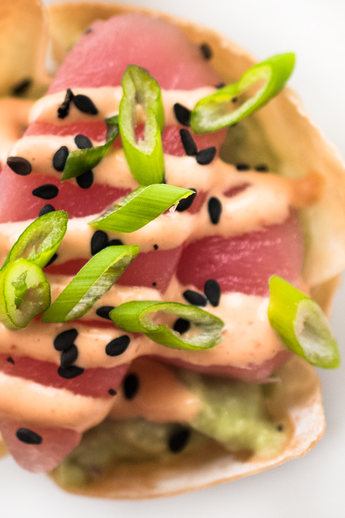 Got 10 minutes? That's all you need to make Tuna Sashimi and Avocado Wonton Cups. Perfect for parties and impromptu get togethers.