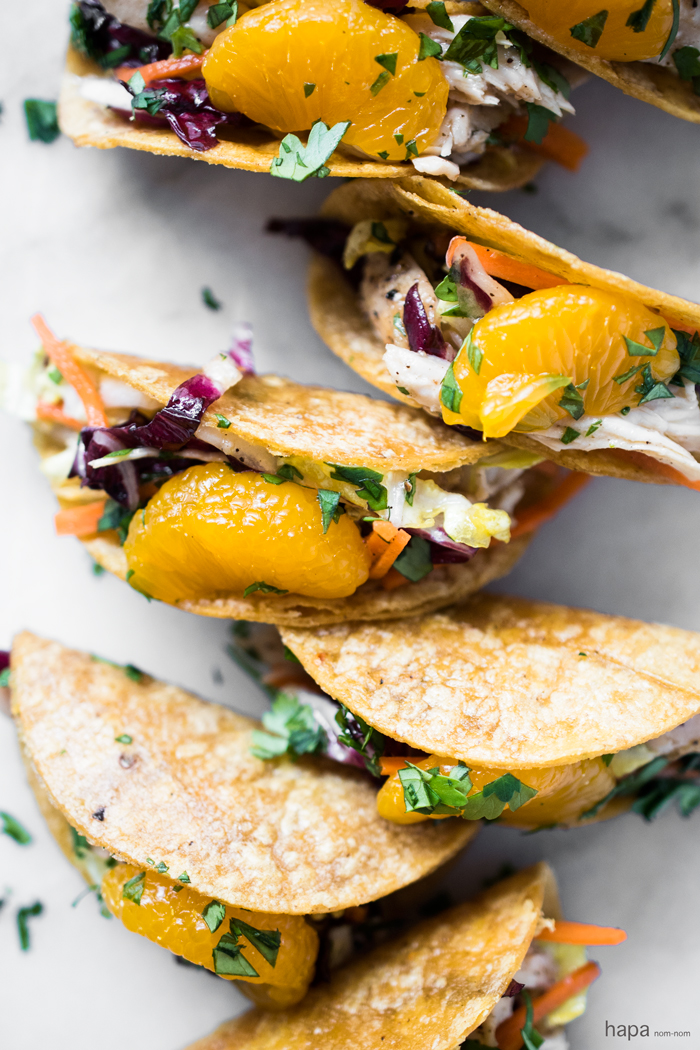 Chinese Chicken Salad Mini Tacos