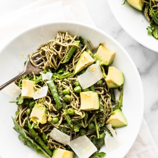 Soba Noodle Salad with Walnut Pesto