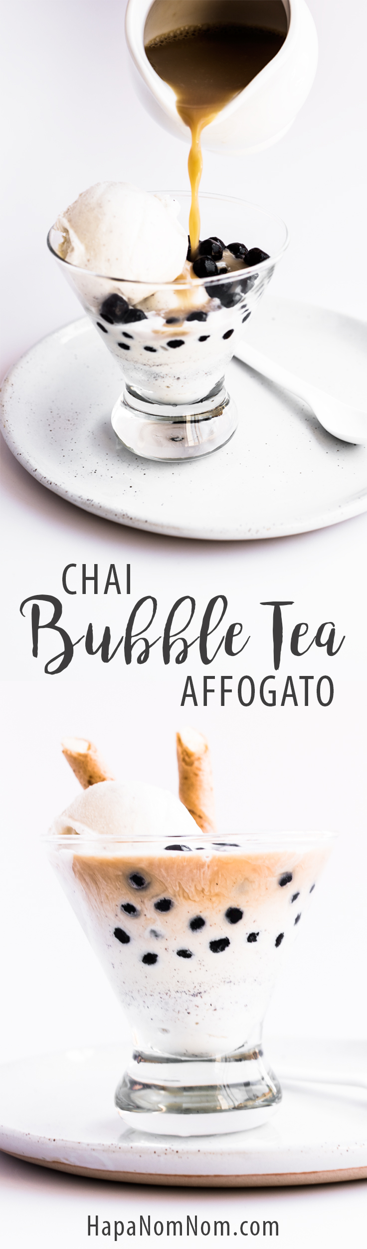 Quick, easy Chai Bubble Tea Affogato - the perfect treat!